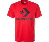 T-Shirt, Baumwolle, feuerrot