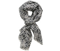 Schal, Baumwolle-Leinen, gemustert