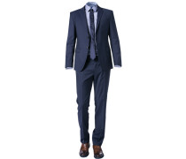 Anzug, Slim Fit, Schurwolle, marineblau
