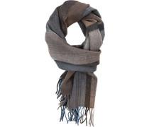 Schal, Wolle, -blau kariert