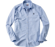 Hemd, Slim Fit, Oxford, hellblau