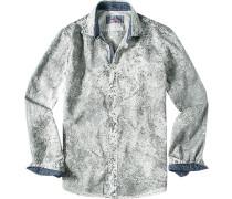Hemd, Slim Cut, Popeline, castlerock
