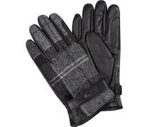 Handschuhe, Leder-Wolle, kariert