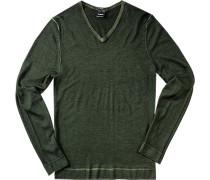 Pullover, Slim Fit, Schurwolle, tannengrün
