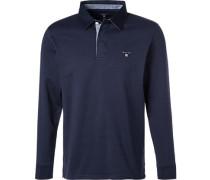 Rugby-Shirt, Baumwolle, marineblau