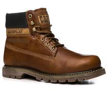Schuhe Boots, Leder, mittelbraun