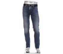 Jeans Slipe, Regular Slim Fit, Baumwolle 12,4 oz