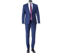 Anzug, Slim Fit, Schurwolle, royalblau