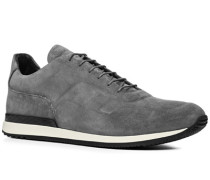 Schuhe Sneaker, Veloursleder, hellgrau