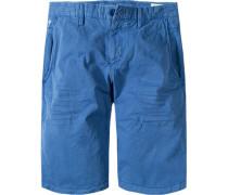 Hose Shorts, Baumwolle, capriblau