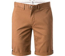 Hose Shorts, Slim Fit, Baumwolle, hellbraun
