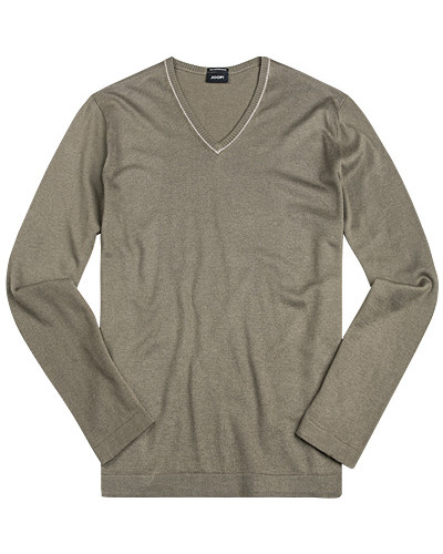 Pullover, Seide-Baumwolle, khaki