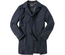 Mantel, Baumwolle halbgefüttert, dunkelblau