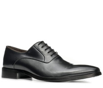 Schuhe Oxford, Kalbleder, anthrazit