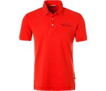 Polo-Shirt Polo, Baumwoll-Piqué, orangerot