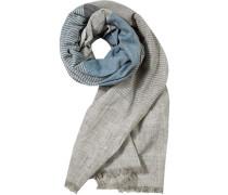Schal, Baumwolle, blau- gestreift