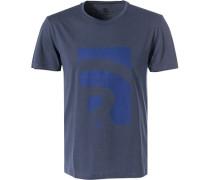 T-Shirt, Baumwolle, rauchblau