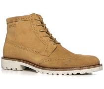 Schuhe Schnürstiefelette, Veloursleder