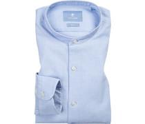 Hemd, Slim Fit, Baumwolle, hellblau meliert