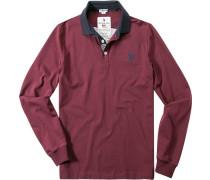 Polo-Shirt Polo, Baumwoll-Jersey, Applikation hinten