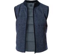 Pullover Weste, Modern Fit, Schurwolle-Seide
