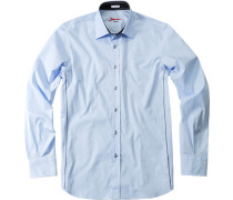Hemd, Slim Fit, Baumwolle, hellblau
