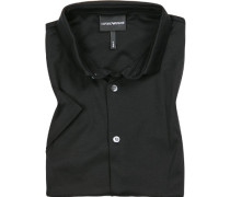 Kurzarm-Hemd, Slim Fit, Baumwoll-Jersey