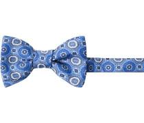 Krawatte Schleife, Seide, blau gemustert