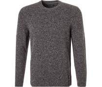 Pullover, Wolle, mittelgrau meliert