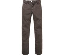 Jeans, Baumwoll-Stretch, meliert