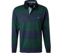 Rugby-Shirt, Baumwolle, -navy gestreift