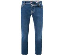 Jeans, Baumwoll-Stretch, indigo