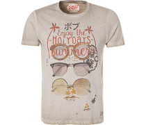 T-Shirt, Baumwolle, taupe