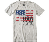 T-Shirt, Baumwolle, hellgrau