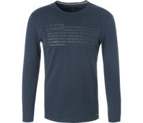 T-Shirt Longsleeve, Baumwolle, navy