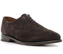 Schuhe Oxford, Veloursleder, mokka