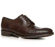Schuhe Budapester, Kalbleder gebrusht