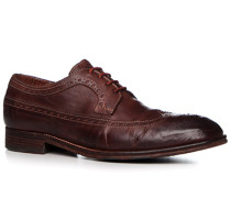 Schuhe Budapester, Rindleder, cuoio