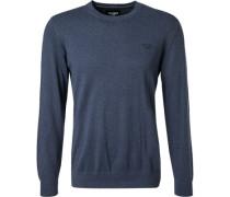 Pullover, Baumwolle-Kaschmir, jeansblau