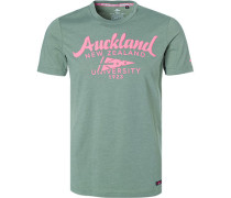T-Shirt, Baumwolle, grau- meliert
