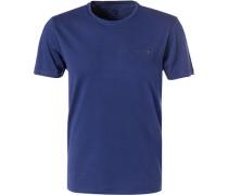 T-Shirt, Baumwolle, marineblau
