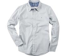 Hemd, Baumwolle, hellgrau