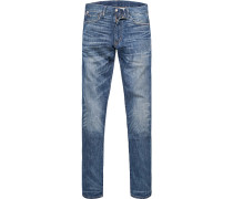 Blue-Jeans, Slim Fit, Baumwoll-Stretch