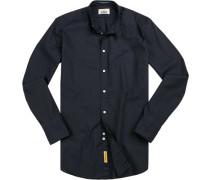 Hemd, Regular Fit, Baumwolle, navy
