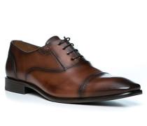 Schuhe Oxford Leeds, Kalbleder