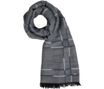 Schal, Wolle-Modal, rauchblau gemustert