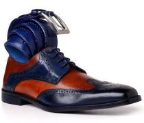 Schuhe Budapester mit Gürtel, Kalbleder
