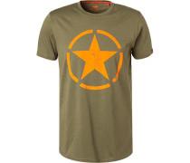 T-Shirt, Baumwolle, olivgrün