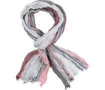 Schal, Baumwolle, -rot gesteift