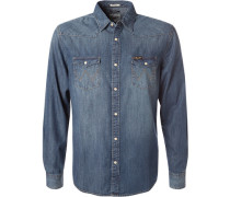 Oberhemd, Regular Fit, Jeans, denim